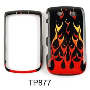 Blackberry Torch 9800 Wild Fire, Orange/Red Hard Case/Cover/Faceplate/Snap On/Housing/Protector (Orange Blackberry Faceplates)