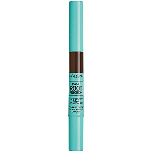 L'Oreal Paris Hair Color Magic Root Precision Temporary Gray Hair Color Concealer Brush, 5 Medium Brown, 0.05 Fluid Ounce]()