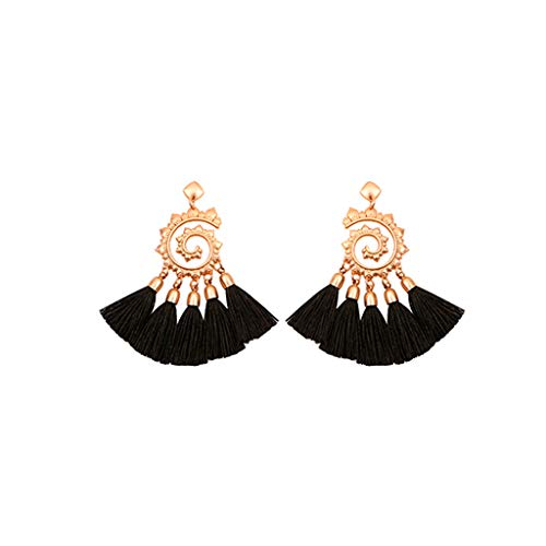 - GDJGTA Earrings Womens Vintage Bohemian Metal Sun Flower Tassel Earrings Pendant Ladies Jewelry