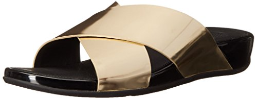 Fitflop Slim Woman Sandal Aix Pale Leather Gold Slide CqTwqnO