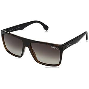 Carrera Men's Ca5039s CA5039S Rectangular Sunglasses, HAVANA MATTE BLACK/BROWN GRADIENT, 58 mm