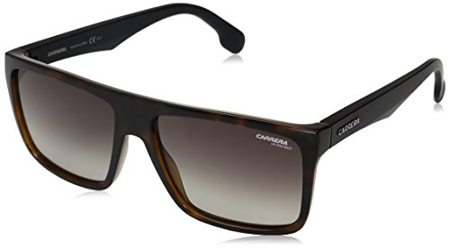 Carrera Men's Ca5039s Rectangular Sunglasses, Havana Matte Black/Brown Gradient, 58 - Carrera Safilo Sunglasses By
