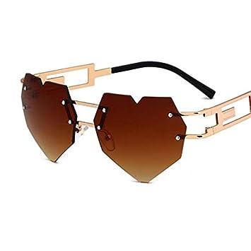 YLYZJH Gafas de Sol con Gafas de Sol con Forma de corazón ...