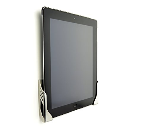 Koala Damage-Free Tablet Wall Mount Dock by Dockem; for iPads, Tablets, Smartphones, and eReaders (Chrome-Plated Plastic)