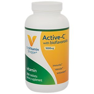 The Vitamin Shoppe ActiveC with Bioflavonoids 1000 MG Antioxidant for Cardiovascular Immune Health Protection Against Free Radicals (250 Tablets)