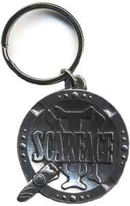 Scarface Cigar Ashtray Metal Keychain K-2215-E