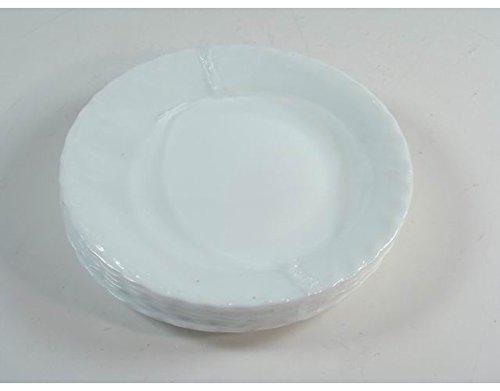 Accessori cucina stoviglie servizio piatti frutta prima in ceramica bianca 6 pz OEM