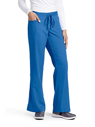 Medium New Scrubs Uniforms - Grey's Anatomy Women's Junior-Fit Five-Pocket Drawstring Scrub Pant - Medium - New Royal