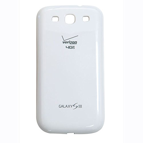 OEM Samsung Battery Door Cover for Galaxy S3 Verizon I535 Marble White ()