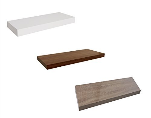 Dekorative Wandregale in verschiedenen Varianten - 3 Farben 4 Längen (80 cm, Weiß)