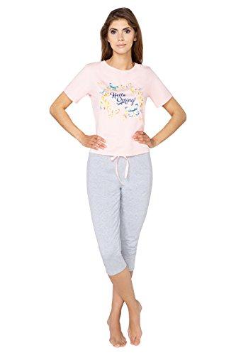 shirt Per Corta Morbido Donna Beige Bello Becomfy Cotone Capri Di Manica Mia Da 2xl Xl L'estate Pigiama L S M T Pantaloni PzEIxw1q