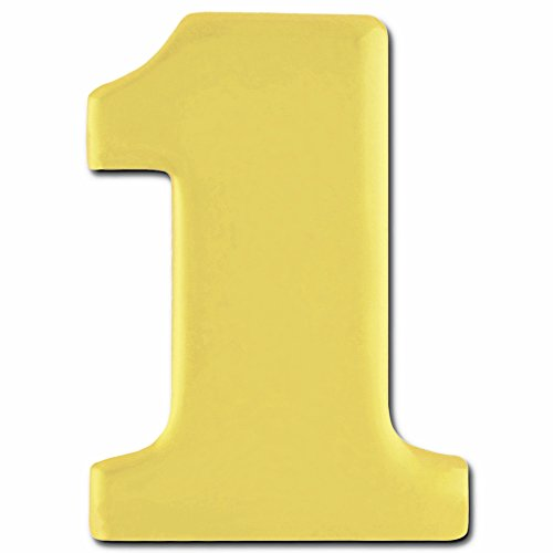 PinMart's Gold Numerical Number One # 1 Lapel Pin by PinMart
