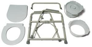 Lumex 7108A Steel Folding Commode, Case of 4