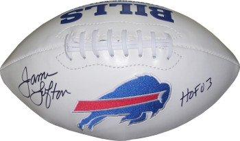 James Lofton Signed Buffalo Bills (Athlon CTBL-016490 James Lofton Signed Buffalo Bills White Logo Football - HOF 03)