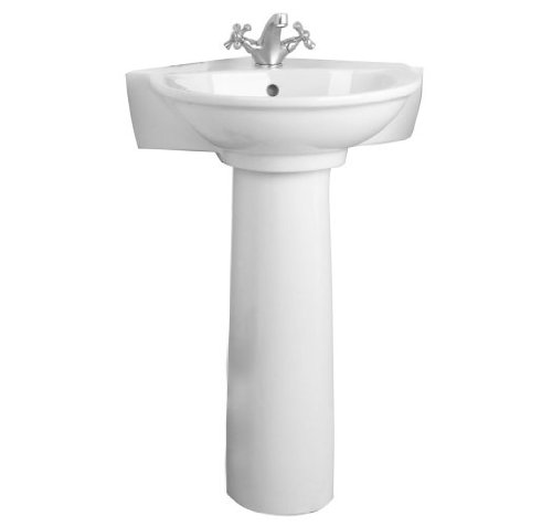 Barclay 3-221WH Evolution Vitreous China Pedestal Lavatory with Single Hole