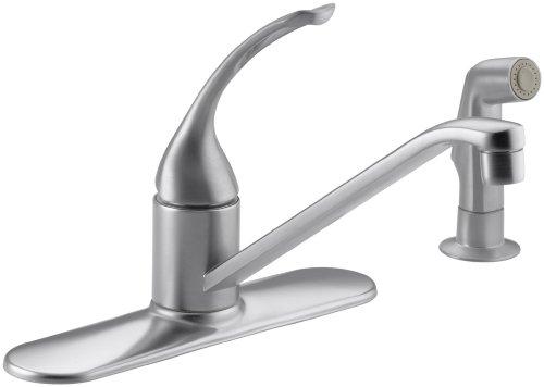 KOHLER K-15172-FL-G Coralais Single Control Kitchen Sink Faucet, Brushed Chrome