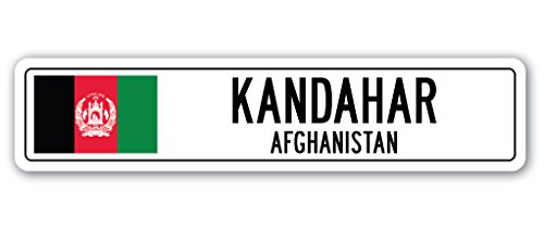 Kandahar, Afghanistan Street Sign Afghani Flag City Country Road Wall Gift (Best Places To Visit In Afghanistan)