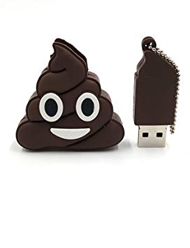 Unidad Flash USB Llavero Emoticono Caca Capacidad Real 32 GB Pen Drive podrás Disponer o almacenar Datos/Musica/Fotos necesarios sin mas Dispositivos ...