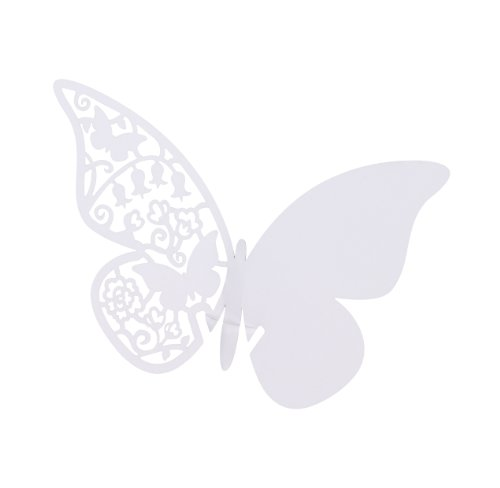 TALKING TABLES 'SOMETHING IN THE AIR' White Butterfly Place Cards (10 Pack)