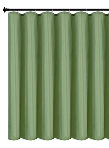 Biscaynebay Fabric Shower Curtain Liners Water Resistant Bathroom Curtain Liners, Sage 72 by 72 Inches