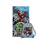 marvel heroes blanket - 2 Piece Kids Boys Blue Marvel Avengers Superhero Themed Sleeping Bag, Action Characters Sleep Sack Blanket, Captain America Iron Man Hulk Thor Black Widow Super Hero Pattern Bed Roll, Red White Green