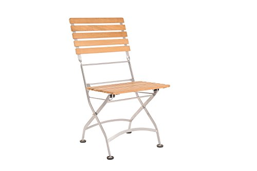 HiTeak Furniture HLC713B Teak Bistro Low Chair with Iron Frame (Frame Plantation Teak)