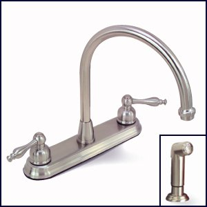 Premier 120163 Wellington Two-Handle Kitchen Faucet with Matching Side Spray, Brushed Nickel - smallkitchenideas.us