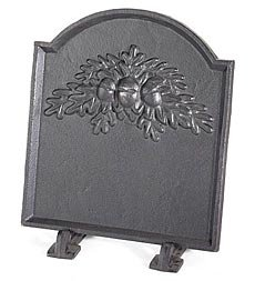 Amazon.com: Cast Iron Fireback With Oak Leaf Design: Home & Kitchen