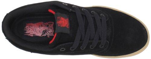 Osiris Mens Caswell VLC Skate Shoe Black/Red/Gum Xv2cCF