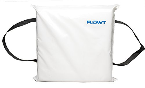 Flowt 40104 Type IV Throwable Floatation Foam Cushion, USCG Approved, White