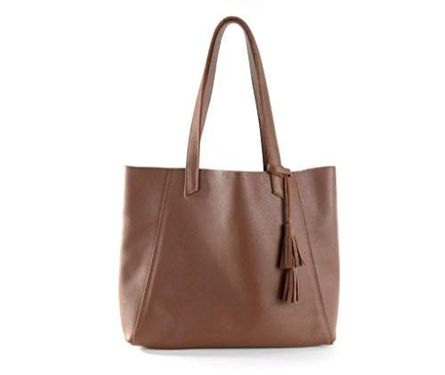June Tote Black- Chestnut by Shana Luther Handbags