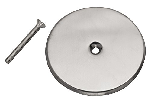 Oatey 42783 Flange Cover, 6 in Dia, Stainless Steel, Chrome Plated Screw, 6-Inch ()