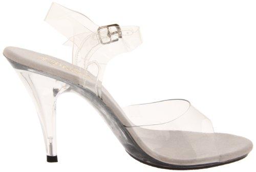 Sandalo Con Cinturino Alla Caviglia 4 Tacco A Spillo Chiaro / Trasparente