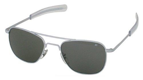 Polarized AO American Optical Original Pilot Sunglasses Matte Chrome 55mm  Bayonet - Buy Online in Bahrain.  2ae187f5b8b