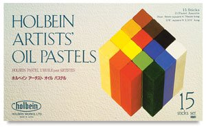 Holbein Artists' Oil Pastel Set of 15 Colors.in a Cardboard Box