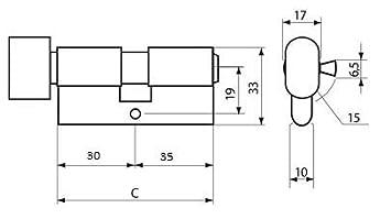 KOTARBAU Schlie/ßzylinder 25//40 Nickel Zylinderschloss Profilzylinder T/ürzylinder Schloss Schlosszylinder Sicherheitsschloss Doppelzylinder Vermessingt