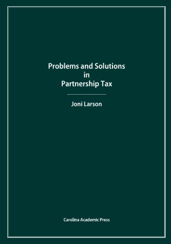 Pdf Law Problems and Solutions in Partnership Tax