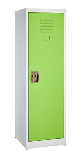 AdirOffice Kids Steel Metal Storage Locker - for Home & School - with Key & Hanging Rods (48 Inch, Green)