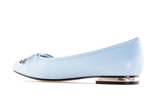 Andres Machado Ballerinas in Übergrößen Blau TG107 Soft Celeste Große Damenschuhe