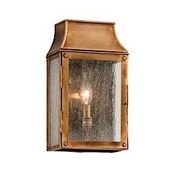 Outdoor Lantern Wall Large Beacon (Troy Lighting Beacon Hill 1 Light Wall Lantern Small Heirloom Brass B3421)
