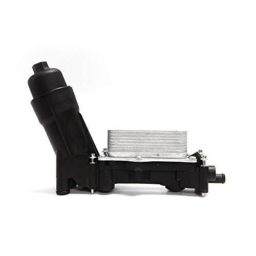 Oil Filter Adapter Housing Assembly 68105583AF 6810558 for 2014-2017 Dodge Chrysler Jeep Models with 3.6L V6 Engine Includes Temp Sensors, Bypass Valve, Spring, Filter & Gaskets