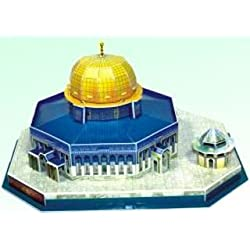 3d Dome of the Rock Jerusalem Islamic Muslim Mosque Puzzle Kit Temple Mount
