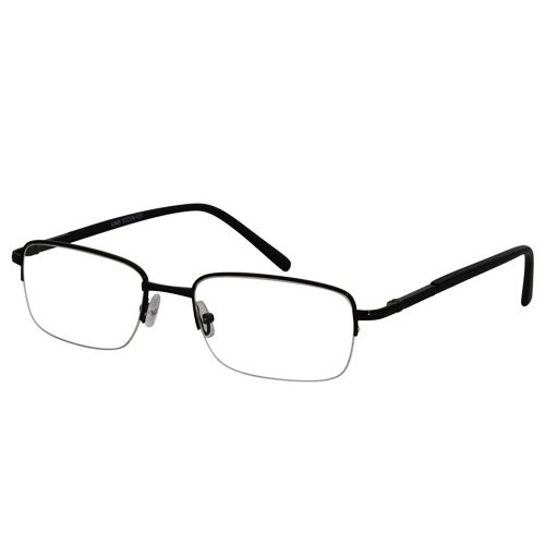 EyeBuyExpress Rectangle Black Reading Glasses Magnification Strength - 4.5 Reading Glasses
