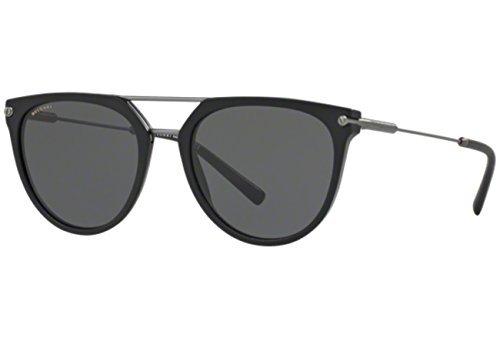 Bvlgari Men's BV7029 Sunglasses Matte Black/Grey 55mm