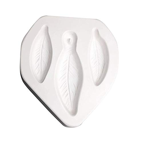 Feather Trio Jewelry Casting Mold for Glass Fusing