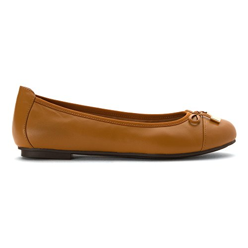 Vionic Tan Leather Womens Minna Shoes 359 aycyqpPB1T