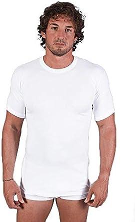 Leo Corsetteria - Camiseta Interior térmica de algodón para Hombre ...