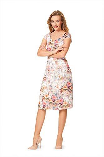Burda 6577 Schnittmuster Kleid mit Herzausschnitt Damen, Gr. 34-46