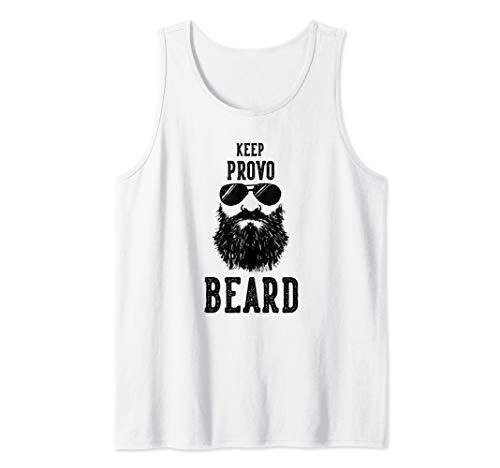 Keep Provo Utah BEARD Funny Hipster Retro  Tank ()