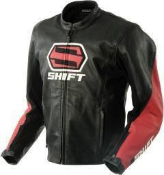 fadd96051 Amazon.com: Shift Vendetta Jacket - Black/Red Leather Motorcycle ...